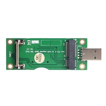 Amazingdeal365 Adaptador Mini PCI-E a USB para Módulo WWAN ...