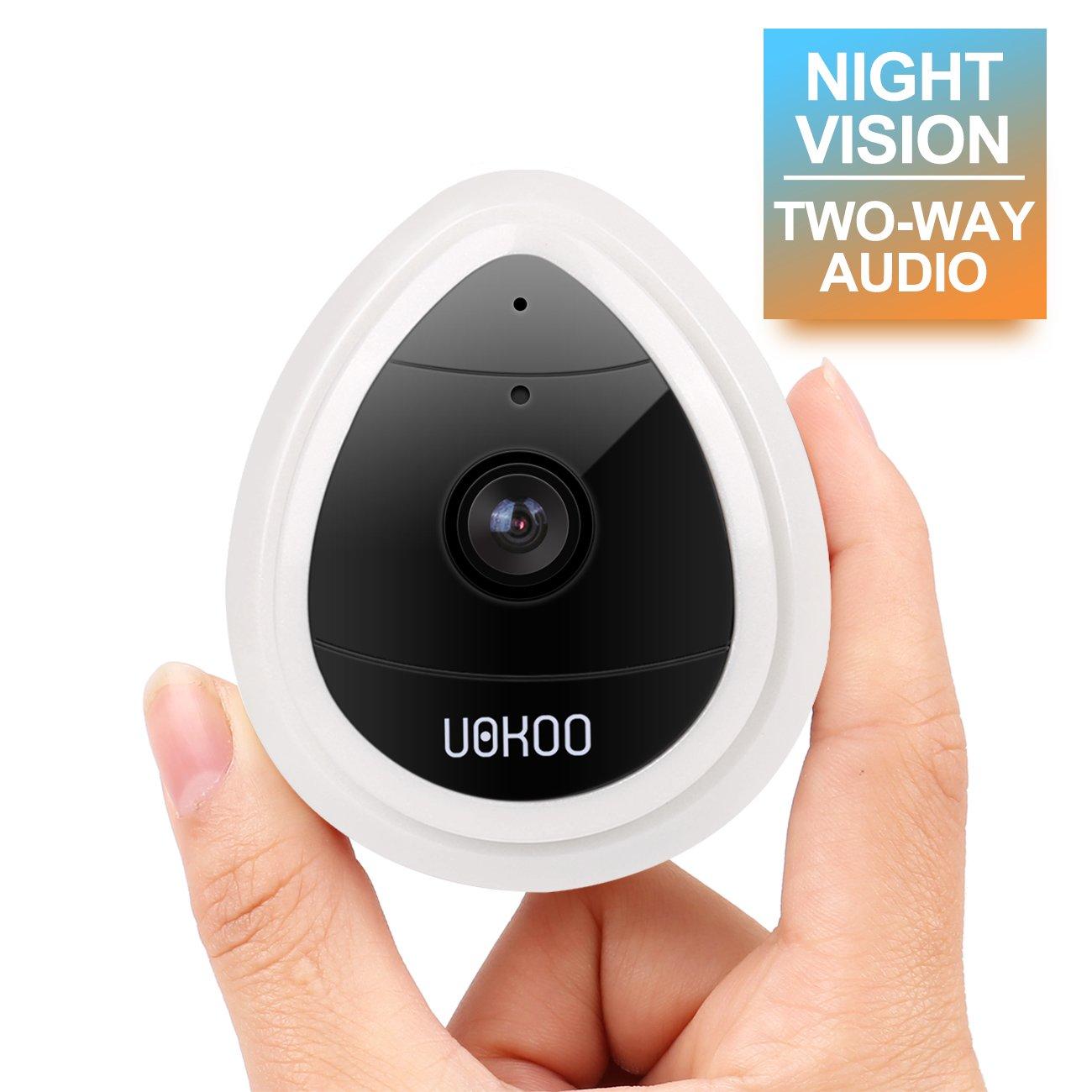 UokoOワイヤレスセキュリティカメラ、720p HDホームWiFiワイヤレスセキュリティ監視IPカメラモーション検出、ナイトビジョン/2 Wayオーディオホワイト B07B9H9R1J