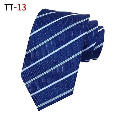 GLMXJJ Vestido Corbata Nueva A Rayas Corbata Oscura Trabajo para ...