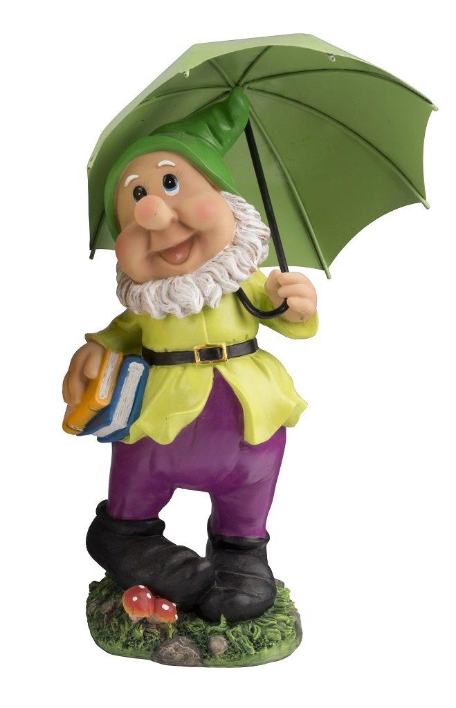 Tall Gnome with Green Umbrella