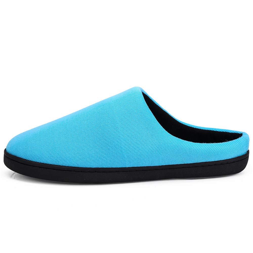 65d8e710a70 Zapatilla de Estar por Casa Mujer Hombre Invierno Calido Algodón Zapatillas  Cómodas Suave Flat Slipper Zapatillas ...