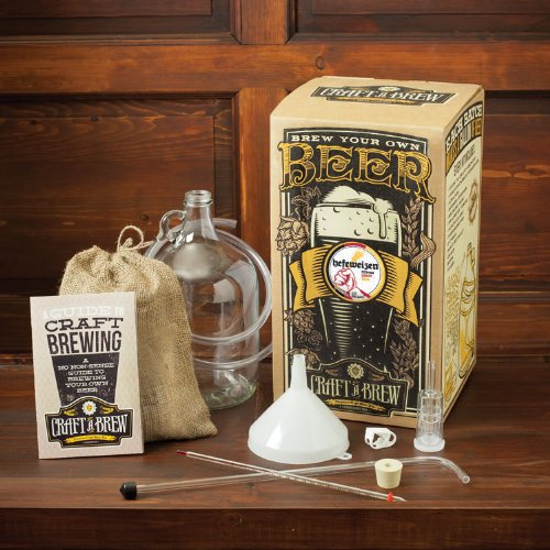 Craft A Brew Home Brewing Kit for Beer - Craft A Brew Hefeweizen Beer Kit - Starter Set 1 Gallon - Reusable Make Your Own Beer - Starter 1 Set