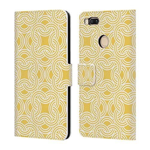 Official KookiePixel Oriental Chainlink Patterns 3 Leather Book Wallet Case Cover Compatible for Xiaomi Mi A1 / Mi 5X -
