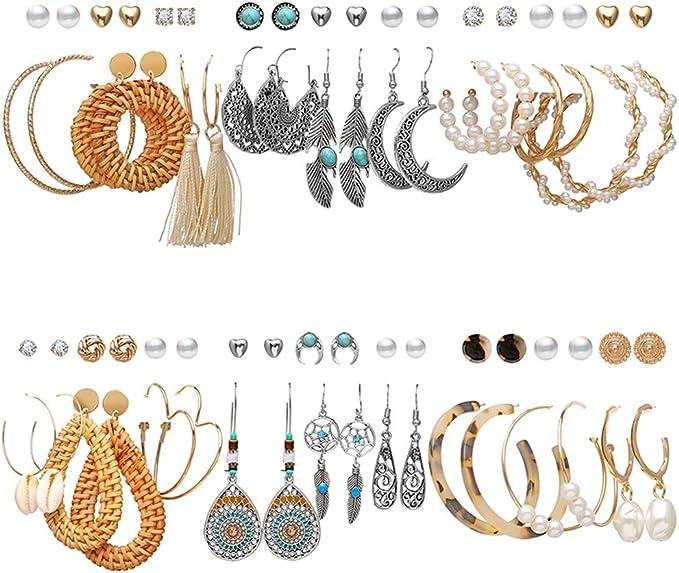 Fashion Jewellery Girls Boho Neon Pink Dance Swan Animal Drop Earrings For Women