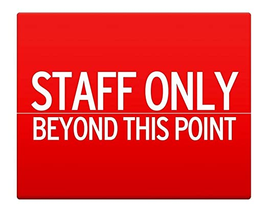 BorisMotley Staff Only Beyond This Point - Señal de metal ...