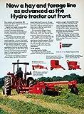 1976 Ad Hay International Agricultural Harvester Equipment Tractor Hydro Farming - Original Print Ad