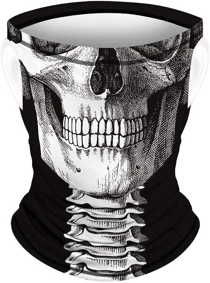 Motorrad Gesicht Mundschutz Lustig Skull Maske Chopper Mund-Tuch Halsschlauch Halstuch Mit Motiv Wind Face Shield KIACIYA Multifunktionstuch Atmungsaktiv /& Schnelltrocknend AC653,25x51cm