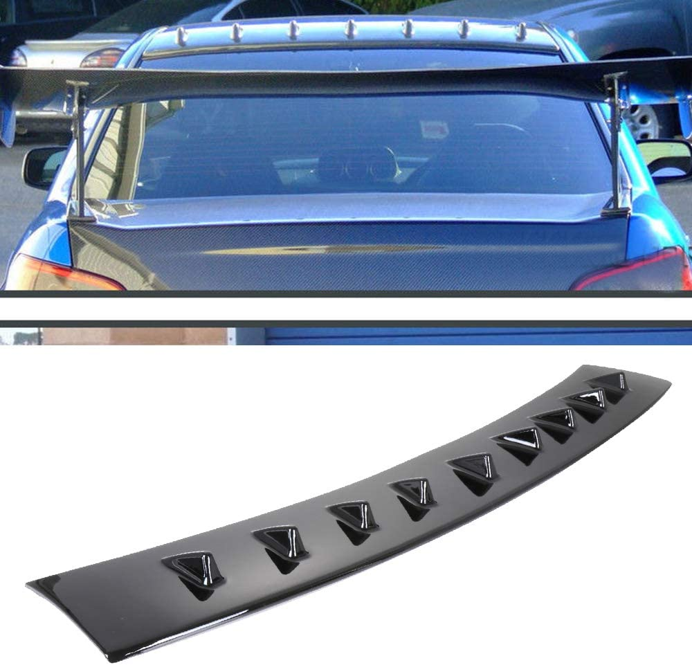 cciyu Black ABS Shark Fin Rear Spoiler Wing Replacement fit for 2002 2003 2004 2005 2006 2007 Subaru Impreza Stylish Trunk Spoiler Wing