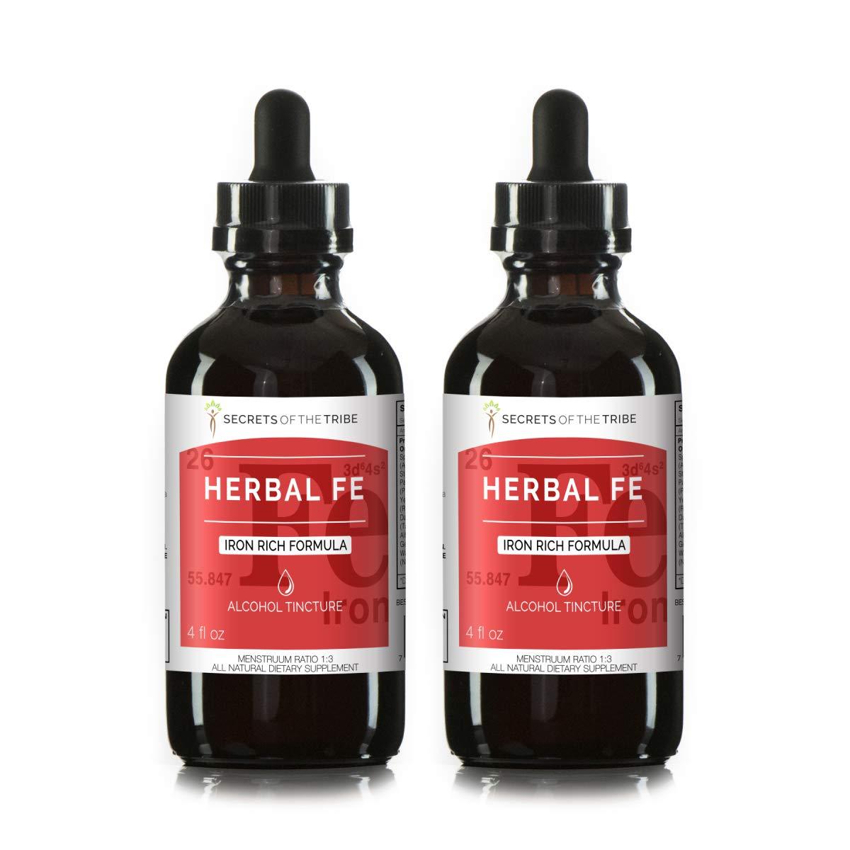 Herbal Fe, Glycerite Spirulina, Stinging Nettle, Parsley, Yellow Dock, Dandelion, Alfalfa, Gentian, Watercress. Iron Rich Formula (2x4 fl oz)