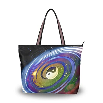 9dcf6df5c3b3 Amazon.com: MAPOLO Universe Of Yin Yang Fashion Handbags Tote Bag ...