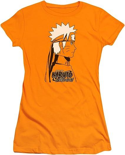 Trevco Naruto Shippuden Naruto - Camiseta Ajustada para Mujer - Naranja - Medium: Amazon.es: Ropa y accesorios