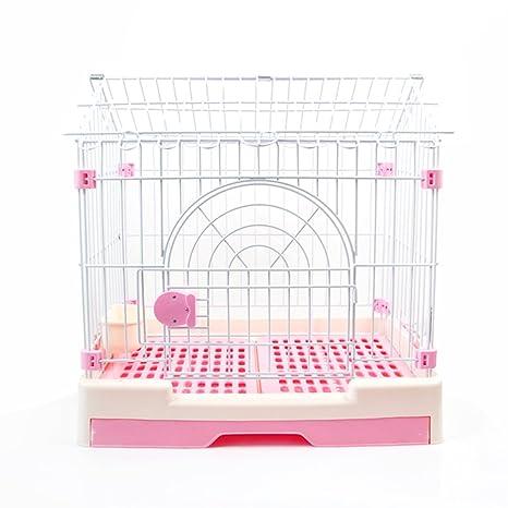 Plegable metal perro cajón,Jaula del animal doméstico plástico con aseo perro jaula perro mediano