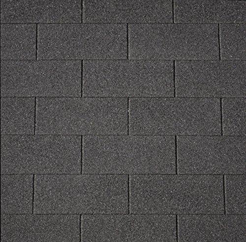 Bitumen-Dachschindeln Rechteck schwarz, 3 m² (11,66 €/m²), Bitumendachschindeln, Dackeindeckung