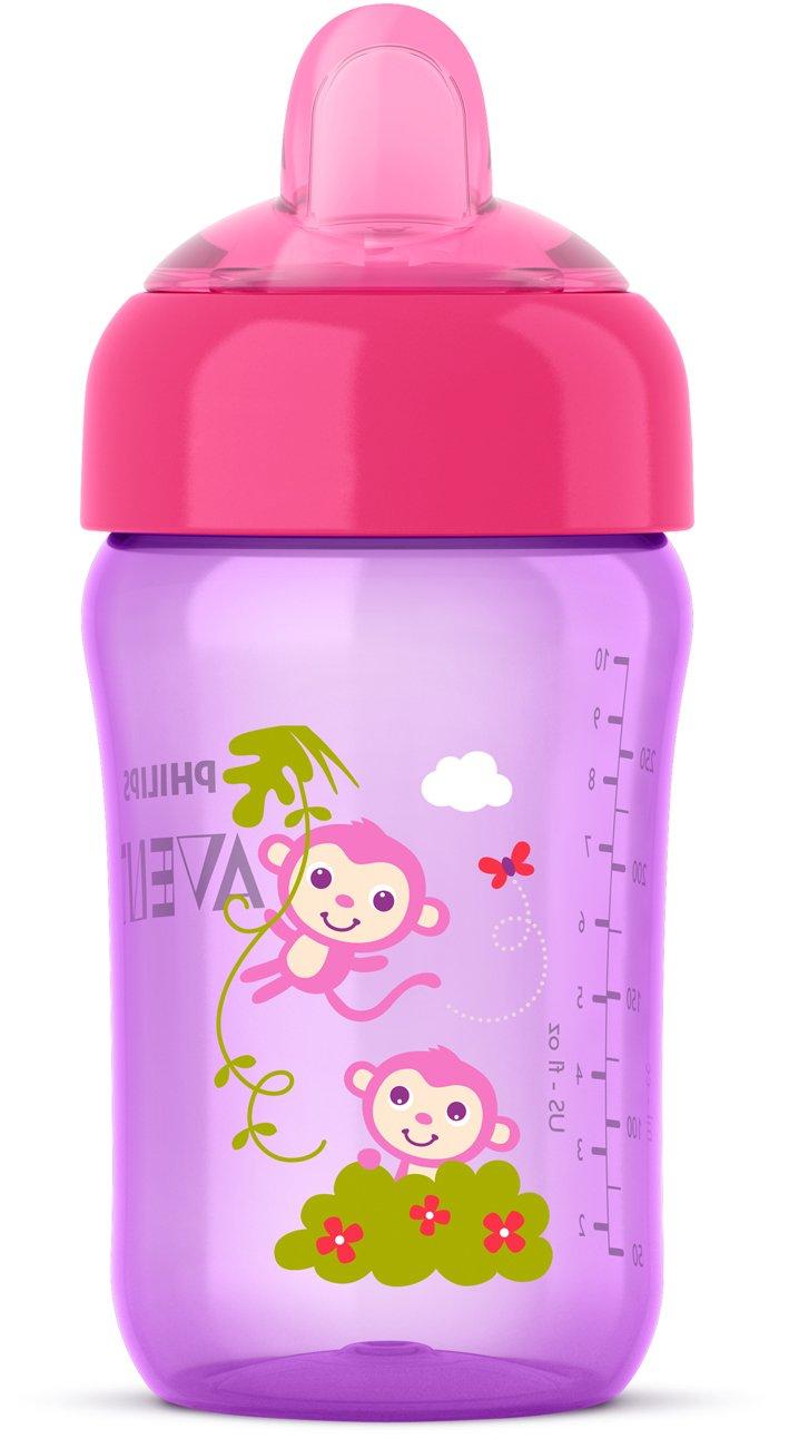 Philips Avent My Sip N Click Cup, 12oz, Pink/Purple, 1pk, SCF555/13