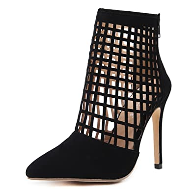 0f23f7ed3e Amazon.com | Hot Women Pumps Ladies Sexy Pointed Toe High Heels Fashion  Buckle Studded High Heel Sandals Shoes | Heeled Sandals