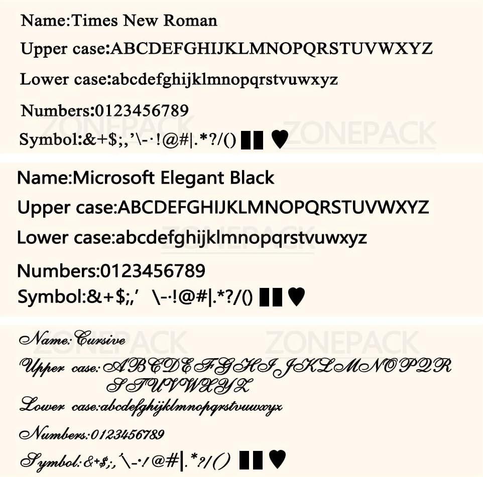 ZONEPACK Copper Brass Stamping Flexible Alphabet Number Symbol Character Stamp Mold Die Positioning Plate DIY for Hot Foil Stamping Machine Letter Holder 10cm T-Slot