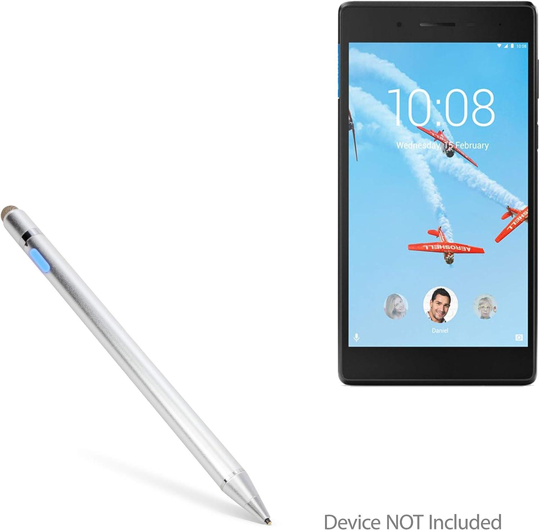 Broonel Silver Mini Fine Point Digital Active Stylus Pen Compatible with The Lenovo Tab E10 10.1