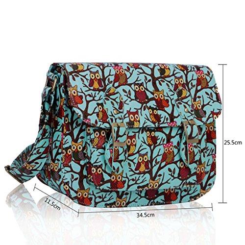 ANNA GRACE - Bolso de asas de lona para mujer Design 4 -Blue