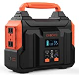 300W Portable Power Station, OMORC Pure Sine Wave Camping Generator, 60000mAh Portable Power Supply with 45W PD/QC3.0/2(350W