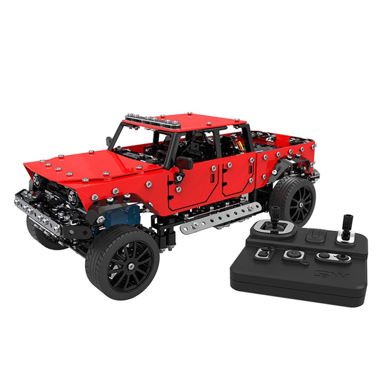 Ballylelly RC Car Steel World 2.4 GHz 8 canali di Ricarica USB Building Block Costruzione DIY Telecomando Jeep off-Road Giocattoli RC Cars of