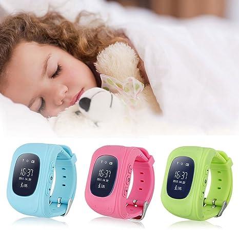 Niños GPS reloj inteligente, zimingu Q50 GPS 2 G Reloj teléfono ...