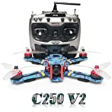 ARRIS C250 V2 250mm RC Quadcopter FPV Racing Drone RTF w/Flycolor 4-in-1 Tower + Radiolink AT9 + 4S Battery + HD Camera