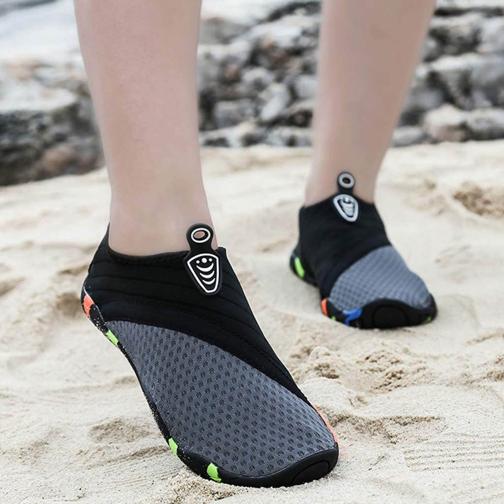 Padaleks Barefoot Quick-Dry Water Shoes Aqua Socks for Swimming Pool Surfing Yoga for Women Men Summer Beach Flip Flop