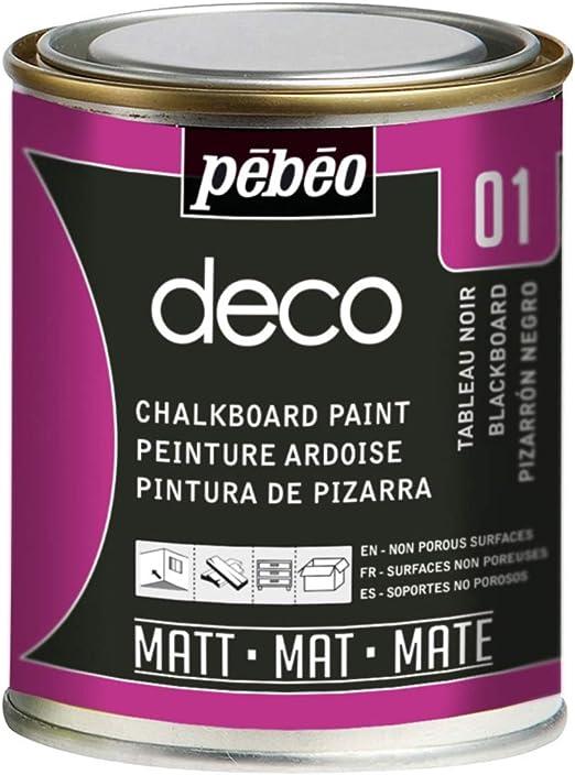 Pébéo Deco Ardoise 250 Ml Tableau Noir Peinture Pébéo Ardoise Peinture Acrylique Tableau Noir Ardoise Murale Peinture Ardoise Craie Pour