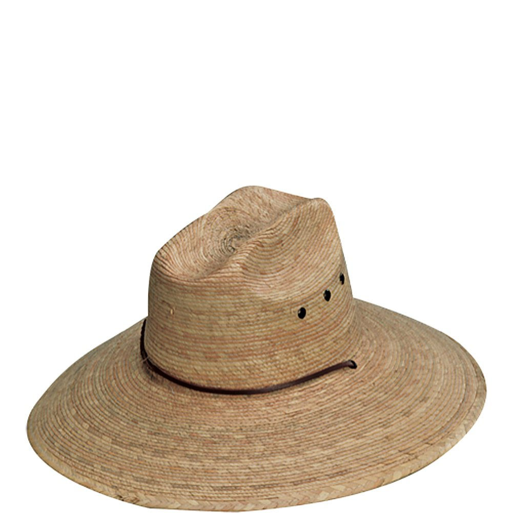 Amazon.com   Broad Rimmed Straw Hat with Adjustable Chin Tie (Hat with  Center Crease)   Garden   Outdoor e19c7a1f48b