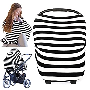 Amazoncom Nursing Cover For Baby Breastfeeding Car Seat Canopy