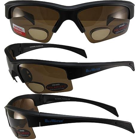 Bluwater Bifocal polarizadas 2 Sunglassess negro mate marcos ...