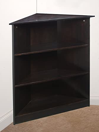 Gift Mark Corner Unit Bookcase Espresso 36quot