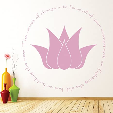 Amazon Azutura The Secret Of Change Wall Sticker Lotus Flower