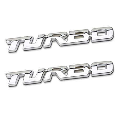 tk-klz 2-Pack 3d metal Turbo Premium Car Side Fender emblema trasero Tronco