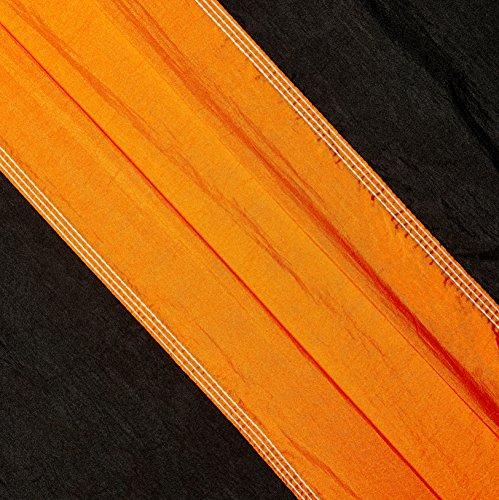 Lightweight Double Camping Hammock, Orange/Black