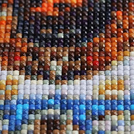 Square Beads, 19.7x19.7 inch Custom Diamond Painting Kits for Adults,Full Drill Personalized Photo Family Wedding Photo with Round//Square Beads for Home Decor