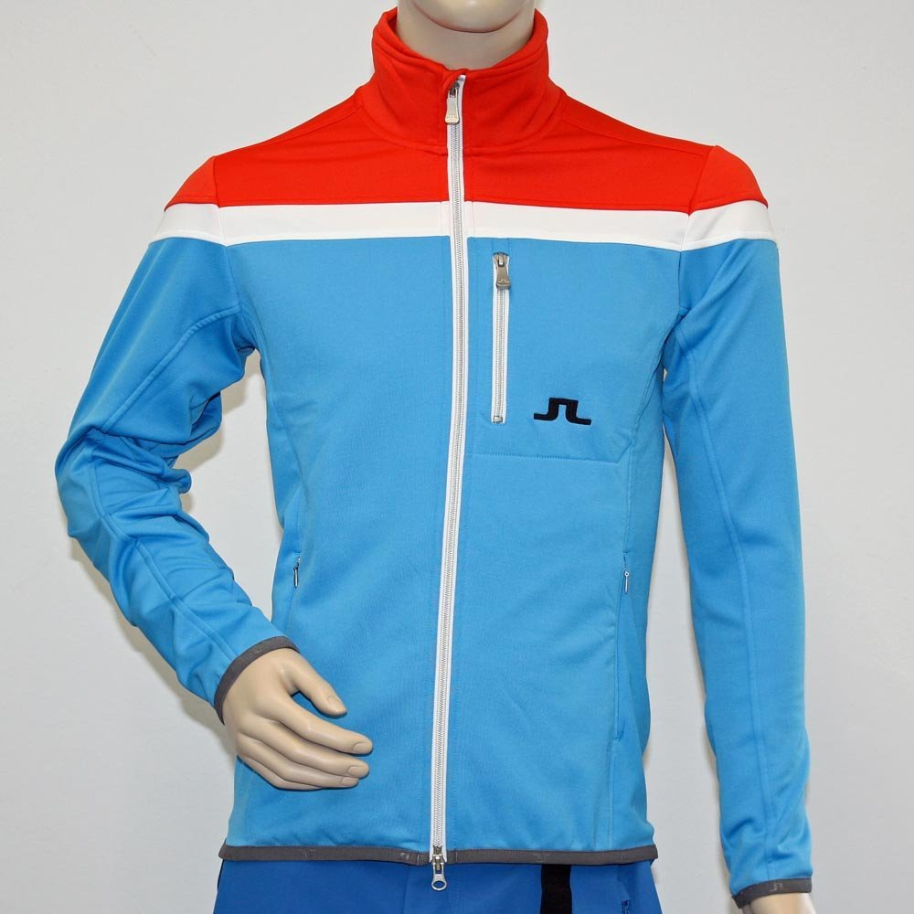 J. Lime Mountain Jersey Lifestyle Jacket Huxley Mens Dk Coral 3741?S