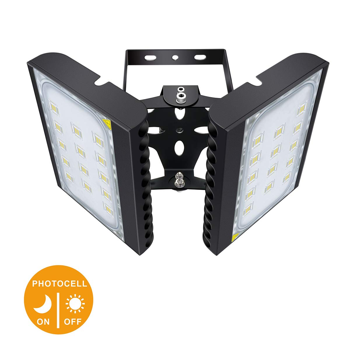 LED Flood Light, STASUN 200W 18000lm Dusk to Dawn Security Lights with 330°Wide Lighting Area (Photocell Included), 6000K Daylight, OSRAM LED Chips, Waterproof, Great for Yard, Street, Parking Lot