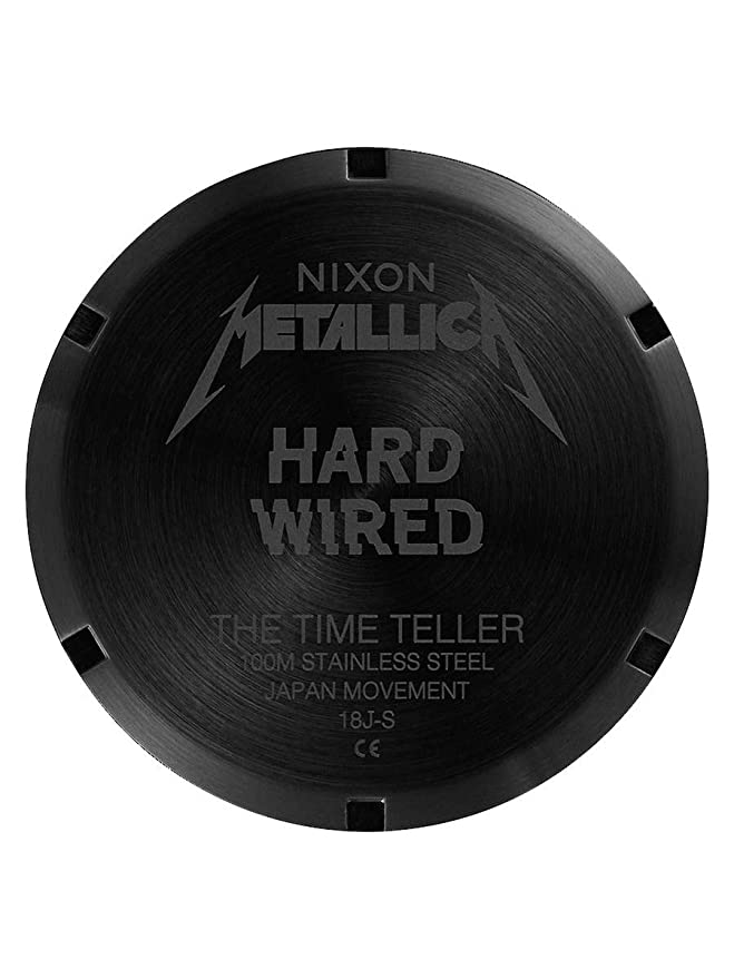 Amazon.com: Nixon Mens Time Teller Metallica Collection Black/Hardwired One Size: Watches