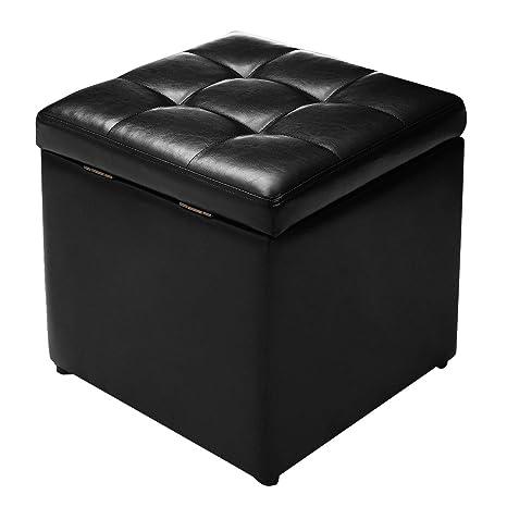 Superb Giantex 16 Cube Ottoman Pouffe Storage Box Lounge Seat Footstools W Hinge Top And Bottom Feet Home Living Room Bedroom Furniture Storage Ottoman Inzonedesignstudio Interior Chair Design Inzonedesignstudiocom