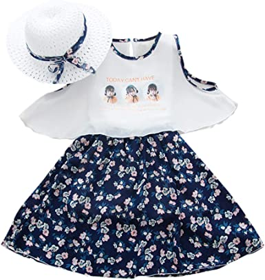 Toddler Baby Girl Floral Sleeveless Strap Ruffle Princess Tutu Dresses Sundress Outfit Clothes