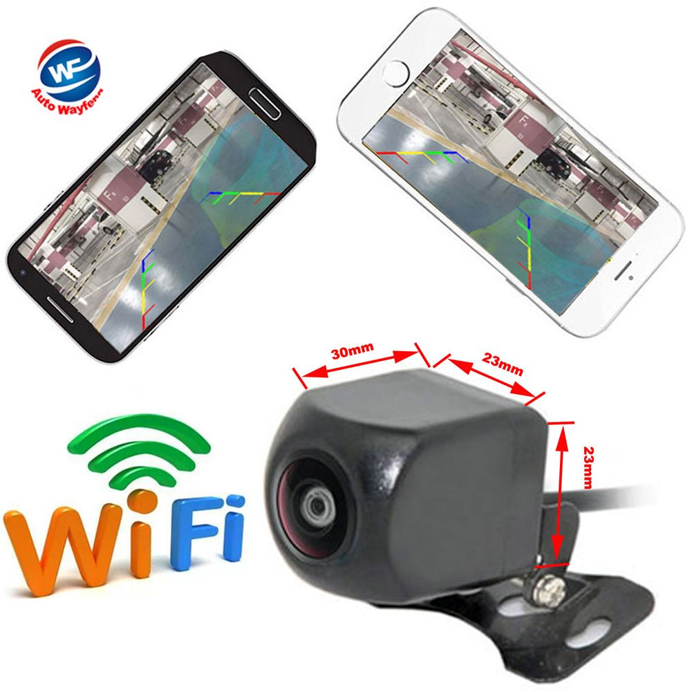 Auto Wayfeng WF® WiFi Reversing Camera Dash Camera Star Night Vision Car Rear View Camera Mini Body Water-Proof Tachograph for iPhone and Android WF-501