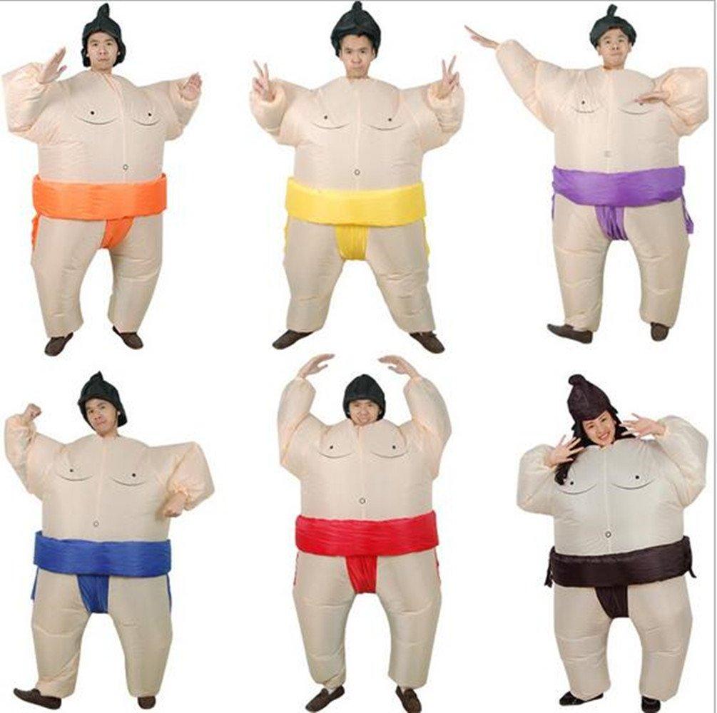 Sanling Inflatable Adult Sumo Wrestler Wrestling Suits Halloween Costume