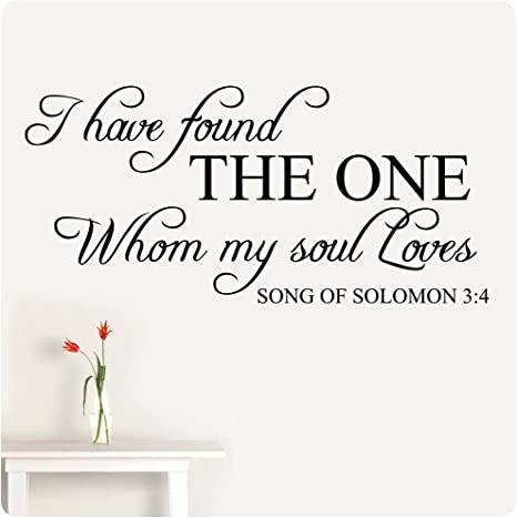 wedding quotes bible verses song of Solomon marriage wedding gifts I have found the one whom my soul loves