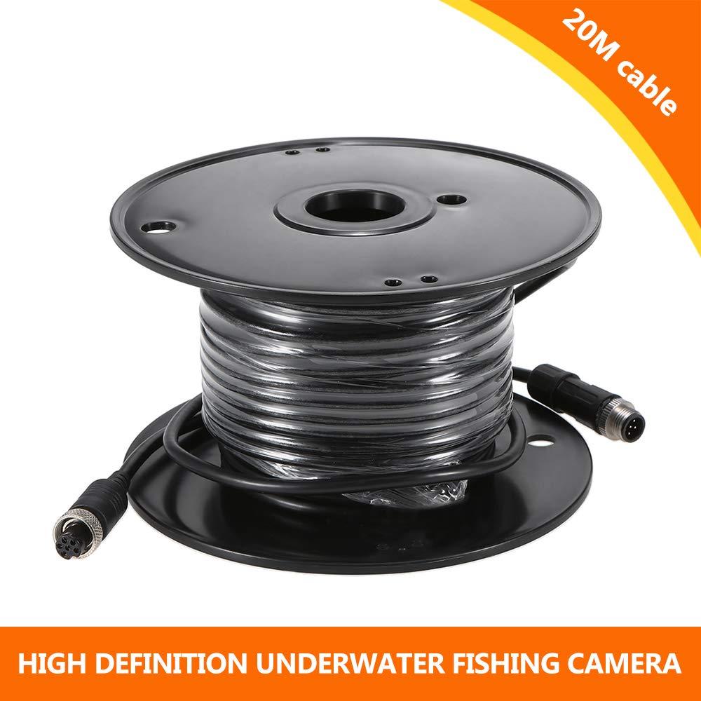 Lixada 1000TVL Under Fishing Camera Portable Waterproof 36 LEDs 360 Degree Rotating Camera Fish Finder 7 Inch LCD Monitor 20m//50m//100m Cable