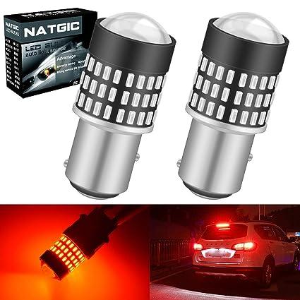 NATGIC 1157 BAY15D 7528 Bombillas LED 1800LM 3014SMD 78-EX ...
