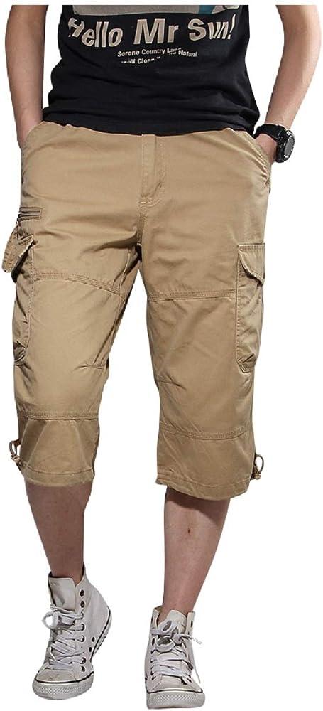 PZJ Short Hombre Cargo Cortos Bermudas Militar Pantalones Chandal ...