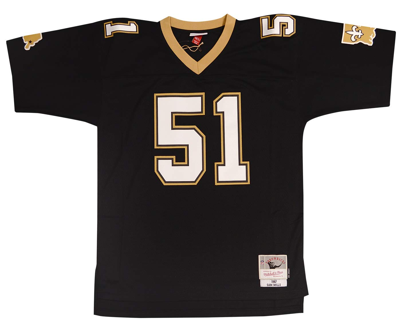 Amazon.com   Mitchell   Ness New Orleans Saints Sam Mills Legacy Throwback  Jersey - Black   Sports   Outdoors 910d26046