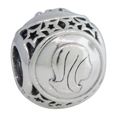 c151a642a Image Unavailable. Image not available for. Color: PANDORA 791941 Virgo  Star Sign Charm
