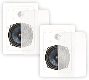 Blue Octave BDW52 in Wall Speakers 2 Way Home Theater Surround Sound Pair